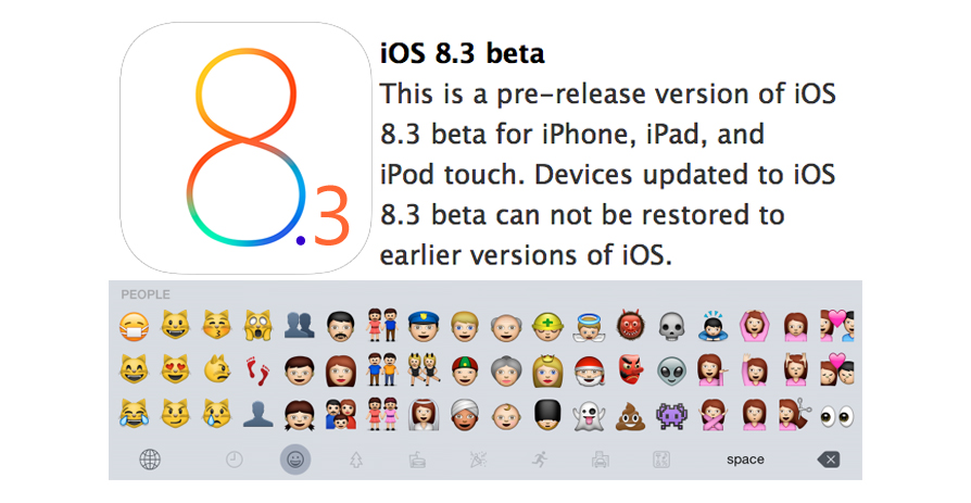 IOS 8.3 - Released its first beta