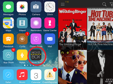 Install Movie Box with Cydia