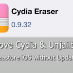 Cydia Eraser – Remove jailbreak & restore stock iOS with jailbreak ability [iOS 7.1 – 9.3.3]