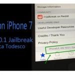 Cydia on iPhone 7 – iOS 10.0.1 jailbreak update by Luca Todesco