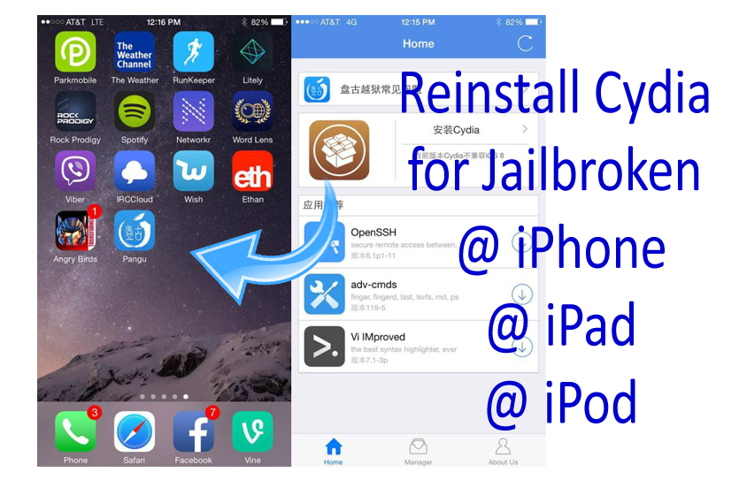 How to (re)install Cydia for jailbroken idevices?