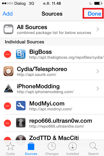 Click Add Cydia source