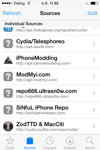 Cydia source completed