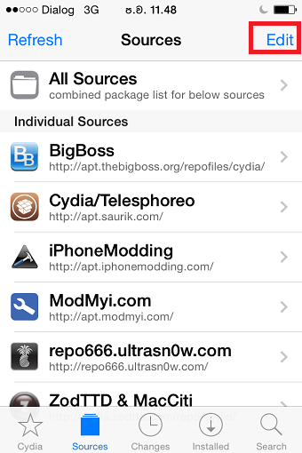 Cydia Sources after jailbreak your Device – Cydia Installer