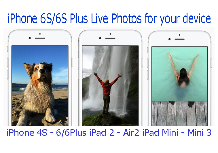 Actually, Live Photos feature is ONLY available with the latest iPhone 6S & 6S Plus devices which released recently. But if you are with older device, ...