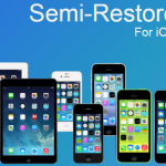 Semi Restore for iOS 5.0 to iOS 9.1 running Devices