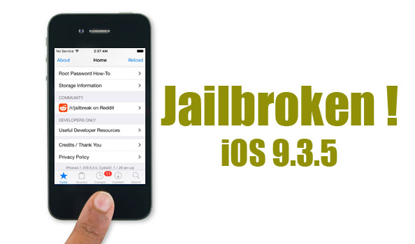 Download Cydia iOS 9 3 5 Ready - Jailbreak Successfully Done by