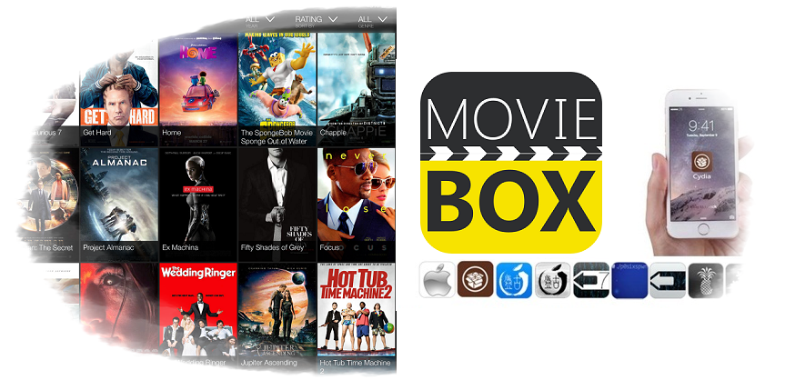 Cydia MovieBox Download without Jailbreaking iOS 7+ Running