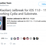 Jailbreak and Download Cydia with Xiaolian jailbreak for iOS 11.2-11.2.6 Running Devices
